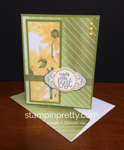 Stampin Up Label Me Pretty Thank You Card - Mary Fish stampinup
