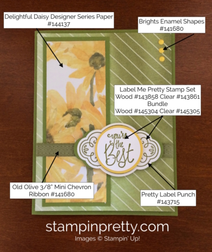 Stampin Up Label Me Pretty Thank You Cards Ideas - Mary Fish stampinup