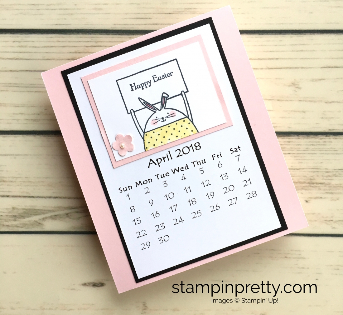Learn how to create this CD case calendar with Stampin Up products - www.stampinpretty.com StampinUp April
