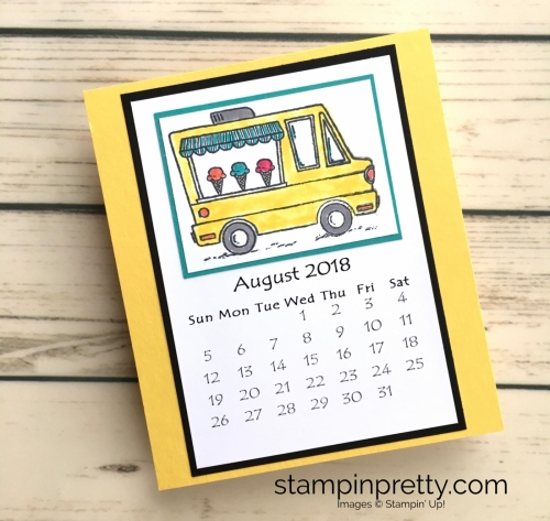 Learn how to create this CD case calendar with Stampin Up products - www.stampinpretty.com StampinUp August