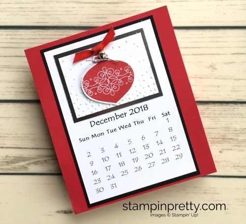 Learn how to create this CD case calendar with Stampin Up products - www.stampinpretty.com StampinUp December