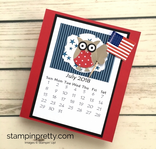 Learn how to create this CD case calendar with Stampin Up products - www.stampinpretty.com StampinUp July