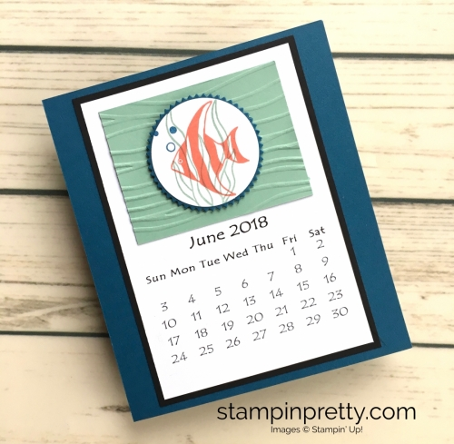 Learn how to create this CD case calendar with Stampin Up products - www.stampinpretty.com StampinUp June