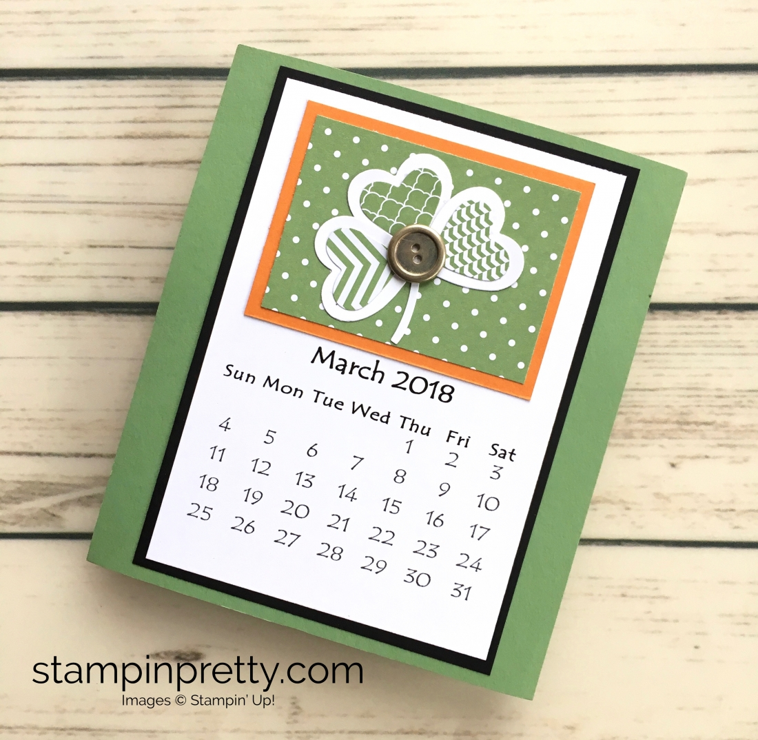 Learn how to create this CD case calendar with Stampin Up products - www.stampinpretty.com StampinUp March