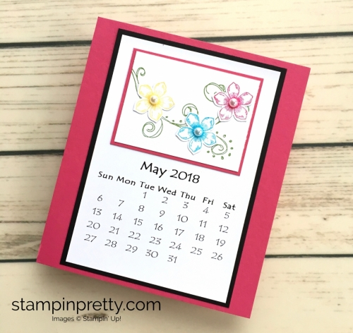 Learn how to create this CD case calendar with Stampin Up products - www.stampinpretty.com StampinUp May