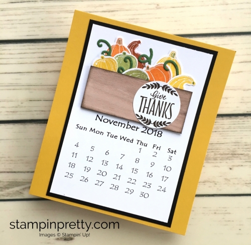 Learn how to create this CD case calendar with Stampin Up products - www.stampinpretty.com StampinUp November