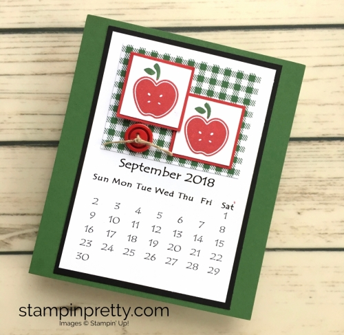 Learn how to create this CD case calendar with Stampin Up products - www.stampinpretty.com StampinUp September