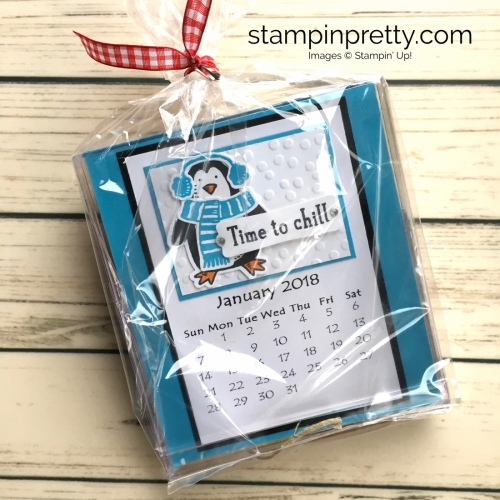 Learn how to create this CD case calendar with Stampin Up products - www.stampinpretty.com StampinUp idea