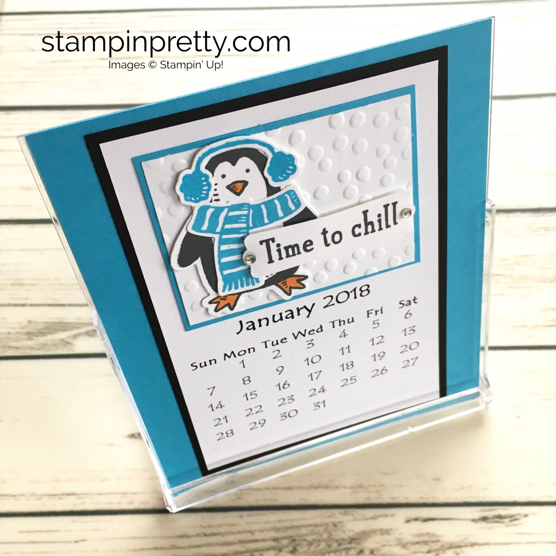Learn how to create this CD case calendar with Stampin Up products - www.stampinpretty.com StampinUp